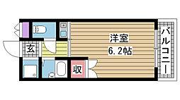 兵庫県神戸市長田区駒栄町の賃貸マンションの間取り