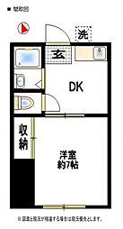 加賀ハイツC棟[202号室号室]の間取り