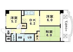 ロイヤルコーポ加古川[3階]の間取り