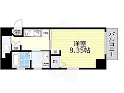 名鉄名古屋本線 山王駅 徒歩7分の賃貸マンション 1階1Kの間取り