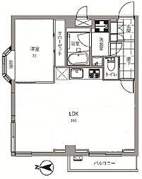 日興パレス南麻布第2[3階]の間取り