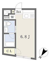 東京メトロ半蔵門線 水天宮前駅 徒歩2分の賃貸マンション 2階ワンルームの間取り