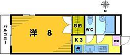メゾン吉田[203号室]の間取り
