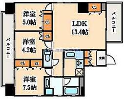 住真田山EAST[6階]の間取り