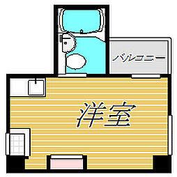 東京都世田谷区若林1丁目の賃貸マンションの間取り
