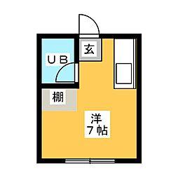 丸三コーポ[1階]の間取り