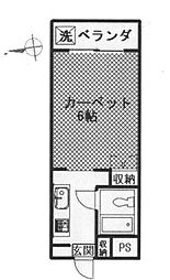 ドミトリー東長崎[302号室]の間取り