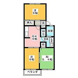 ファミールS[1階]の間取り