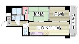 グラン・パレ神戸[3階]の間取り