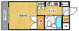 サンライズ天下茶屋[3階]の間取り