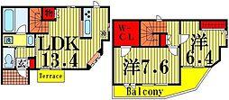 リバティ竹の塚[2階]の間取り