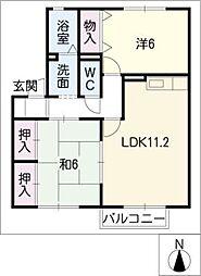 グリーンコート21B[2階]の間取り