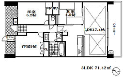 JR東海道・山陽本線 摩耶駅 徒歩3分の賃貸マンション 5階3LDKの間取り