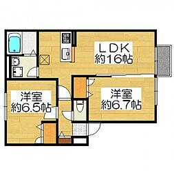 エーデルハイム3[2階]の間取り