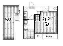 プランドール鶴舞[2階]の間取り