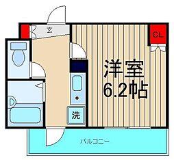 リバティ桜川[1006号室]の間取り