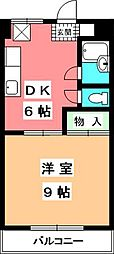 マンションふじ[201号室]の間取り