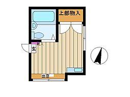東京都目黒区下目黒2丁目の賃貸アパートの間取り