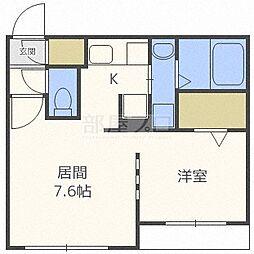 北海道札幌市東区北十二条東1丁目の賃貸マンションの間取り