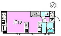 サクラガーデン[104 号室号室]の間取り