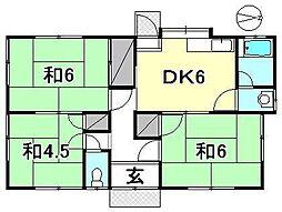 [一戸建] 愛媛県松山市古三津2丁目 の賃貸【愛媛県 / 松山市】の間取り