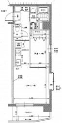 岡山電気軌道清輝橋線 清輝橋駅 3.7kmの賃貸マンション 3階1LDKの間取り