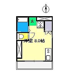 エトワール鴨部Ⅱ[2階]の間取り