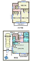 [テラスハウス] 神奈川県藤沢市辻堂元町5丁目 の賃貸【/】の間取り