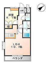 シルフィード ガーデン B[2階]の間取り