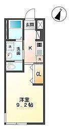 木更津市真舟5丁目新築アパート[208号室]の間取り