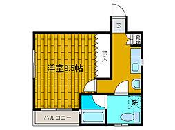 信栄ビル[2階]の間取り