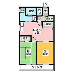 法城ビル[5階]の間取り