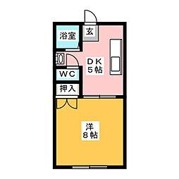 コーポ江島[1階]の間取り