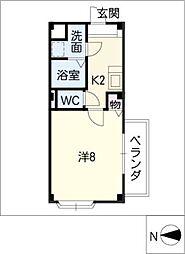 森乃屋コーポ[3階]の間取り