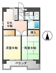 ベルメゾン本田[9階]の間取り