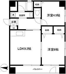 パレス横浜[1階]の間取り