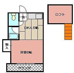 レガーロ黒崎[105号室]の間取り