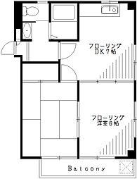 東京都杉並区下井草4丁目の賃貸マンションの間取り