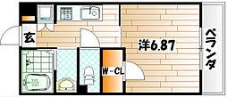 福岡県北九州市戸畑区小芝1丁目の賃貸マンションの間取り