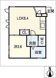 Ceres岩塚駅前 A棟[2階]の間取り