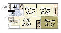 天保山第三コーポ[7階]の間取り