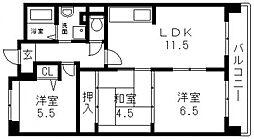 アンドユーイワキ東大阪[405号室号室]の間取り