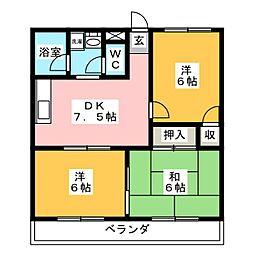 M・クリノキ[2階]の間取り