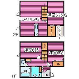 [タウンハウス] 北海道札幌市北区篠路一条2丁目 の賃貸【/】の間取り