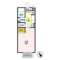 マ・メゾン・ASUKAII[2階]の間取り