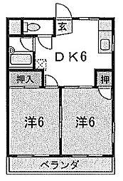 ハイツ明和[3階]の間取り