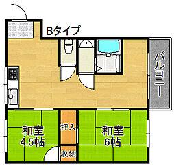 千寿マンション[3階]の間取り