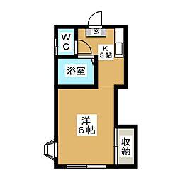ホワイトキャッスル2番館[1階]の間取り