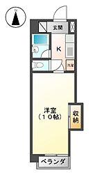第2アイオ−キャッスル[8階]の間取り