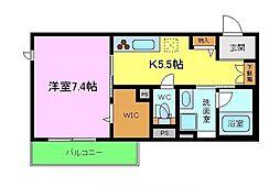 (仮称)熊取町・シャーメゾン大久保北3丁目 2階1Kの間取り
